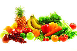 Фрукты и овощи - основное питание при бронхите